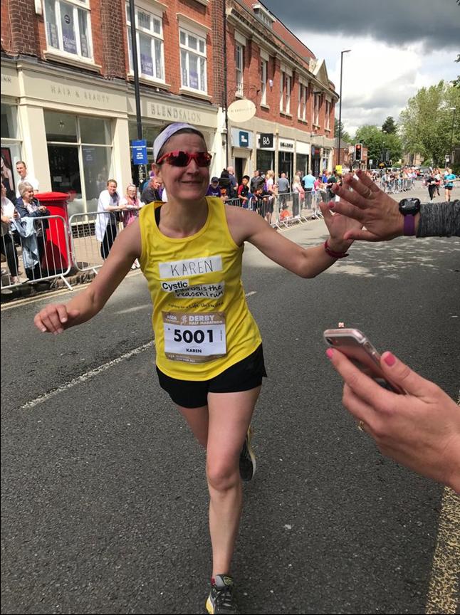 Karen Martin running a half marathon